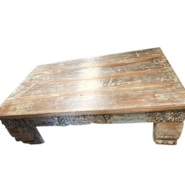 Antique Chai Teak Wood Coffee Table For Sale - Image 9 of 9