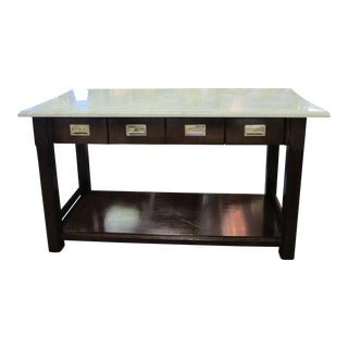 Thomas O'Brien for Hickory Chair Newland Marble Top Kitchen Island For Sale
