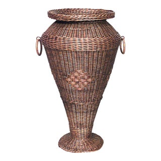 Early 20th Century American Mission Natural Wicker Umbrella Stand For Sale