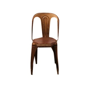 1930's Vintage Fibrocit Belgian Industrial Metal Chair For Sale