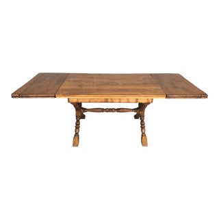 """Cushman Colonial Creations Fairfield Edition Birch X Base 86"""" Dining Extension Table For Sale"""