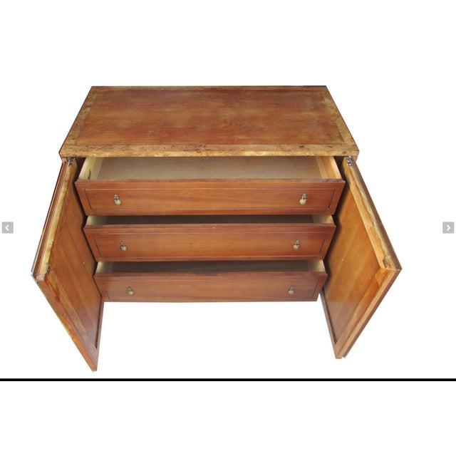 Hollywood Regency Ornate Burled Wood Hollywood Regency Dresser Cabinet By Peppler For Sale - Image 3 of 9