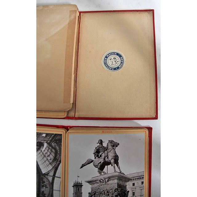 Vintage Italian Red Postcard Books - A Pair - Image 2 of 10