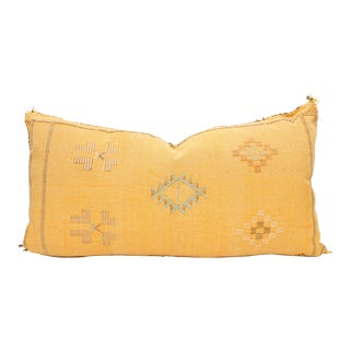 Moroccan Sabra Cactus Silk Lumbar Pillow Cover