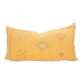 Moroccan Sabra Cactus Silk Lumbar Pillow Cover
