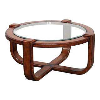 Mid-Century Modern Design Glass Top Coffee Table For Sale