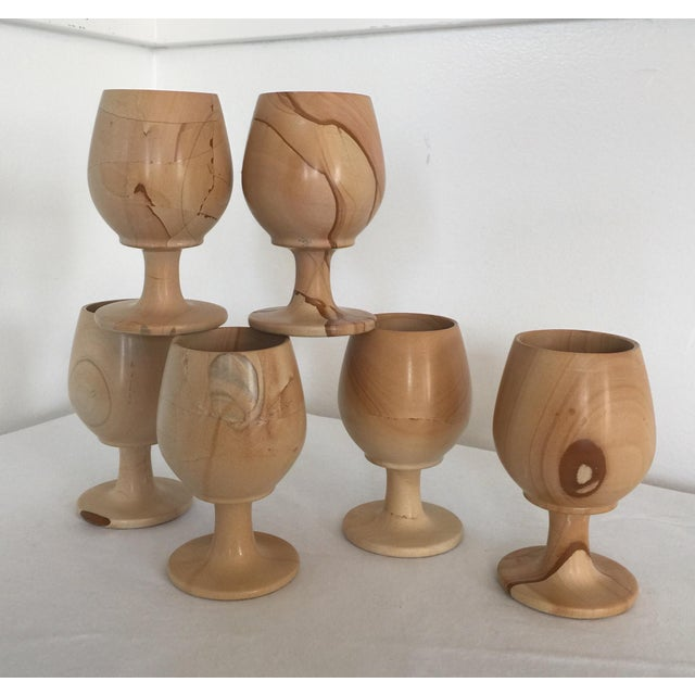 Exquisite Pakistani onyx goblets. These carved 100% stone goblets are in mint condition. Rare, I have researched but not...