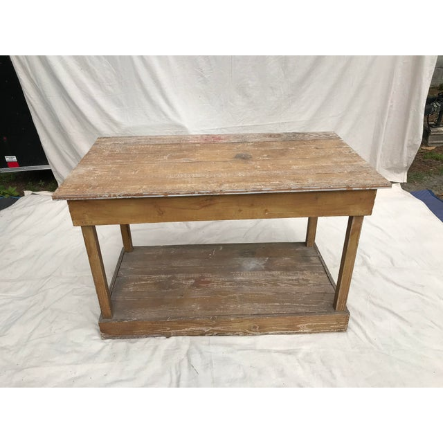 Antique Southern Primitive Work Tables - a Pair For Sale - Image 4 of 13