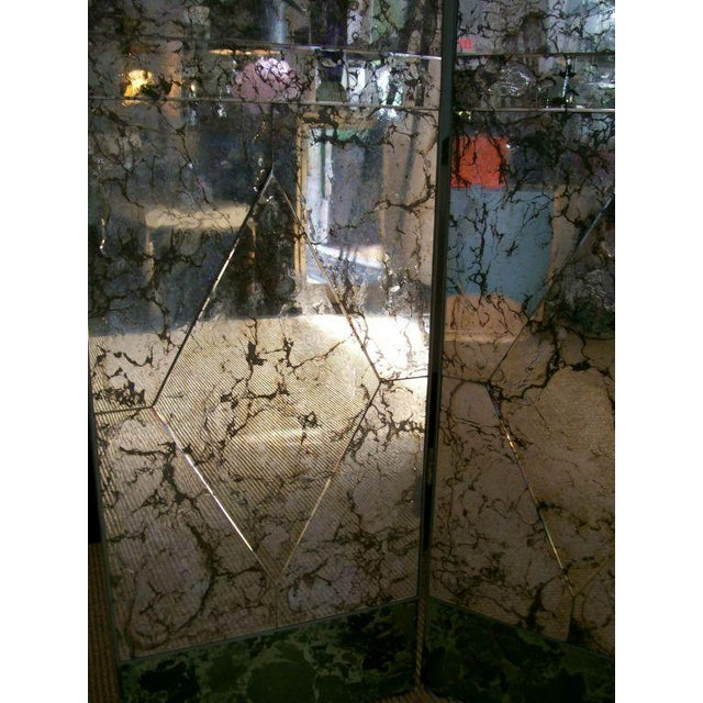 1930s Four-Panel Old and Distressed Mirrored Screen For Sale - Image 5 of 5
