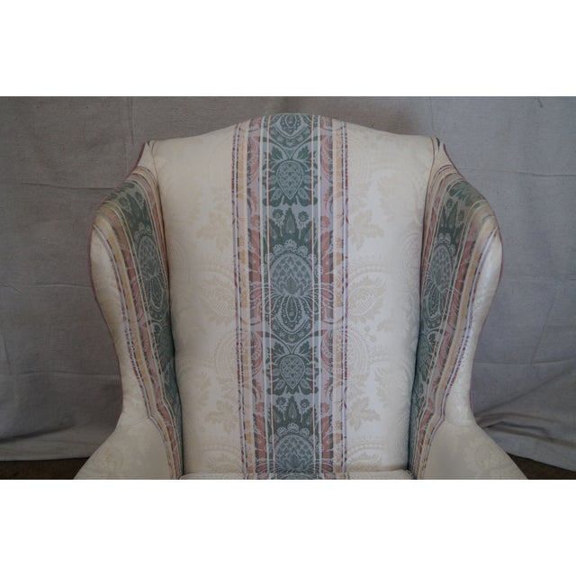 Highland House Hickory Queen Anne Wing Chair - Image 7 of 10