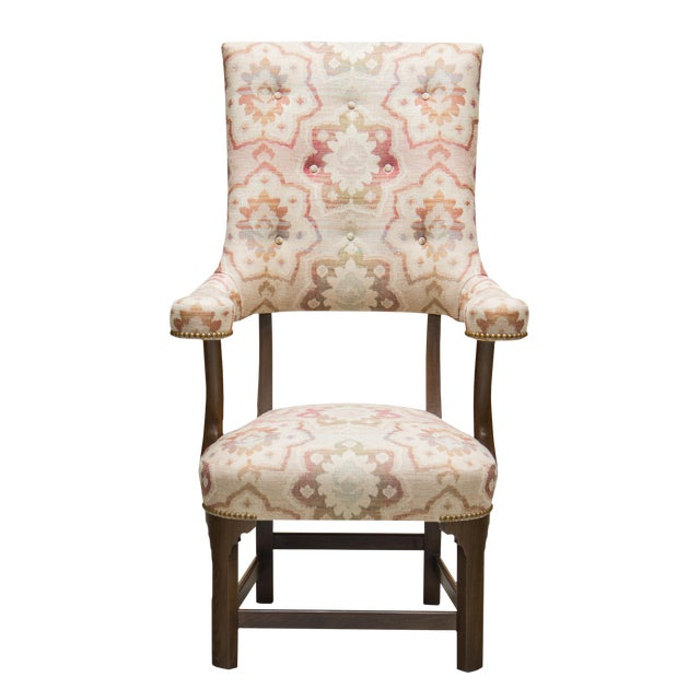"Truex American Furniture The"" George ""Chair in Floral Pastel Print For Sale"