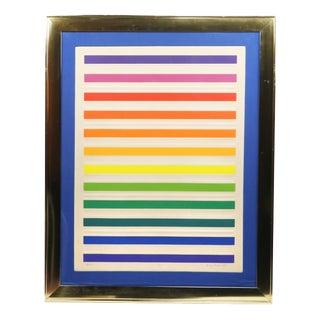 "Embossed ""Spectrum 9"" Serigraph by Audrey Brendahl Kuhn For Sale"