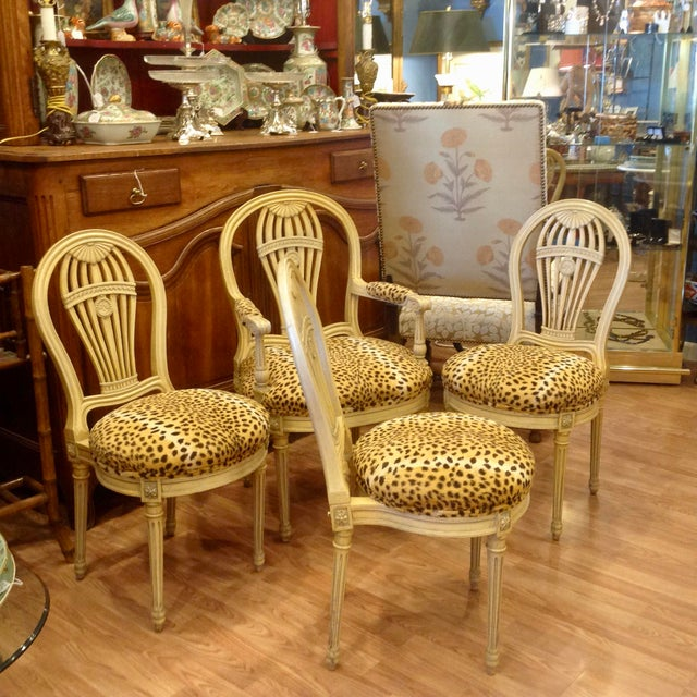 Set of 4 Jansen Style Balloon Back Chairs For Sale - Image 12 of 12