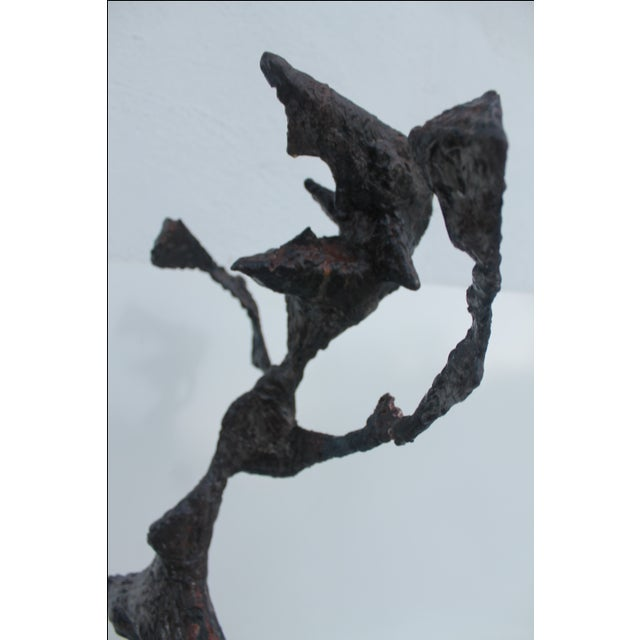 Vintage Brutalist Torch Cut Metal Sculpture - Image 7 of 11