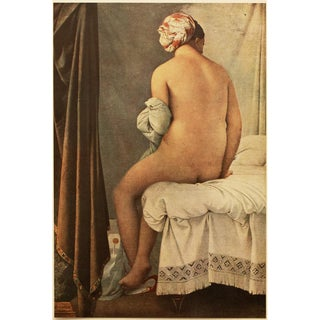 "1951 Ingres ""The Bather"", First Edition Parisian Photogravure For Sale"