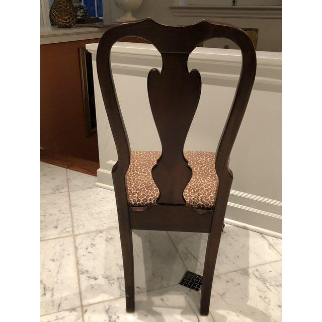 1990s Vintage Drexel Heritage Queen Anne Style Dining Chairs - Set of 10 For Sale In New York - Image 6 of 9