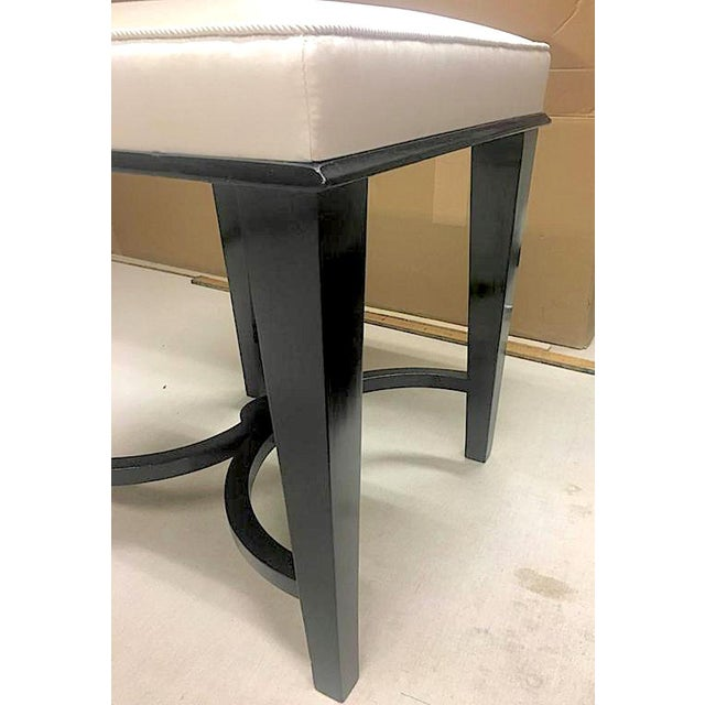André Arbus Andre Arbus Superb Pair of Neoclassic Stool Newly Covered in Silk For Sale - Image 4 of 9