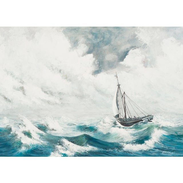 Oil Painting - A Stiff Breeze, 1966 - Image 1 of 6