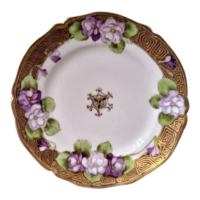 19th Century French Limoges Art Deco Plate For Sale