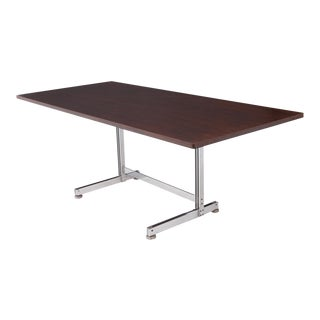 Jules Wabbes Desk Table Chrome Plated Steel for Mobilier Universel For Sale