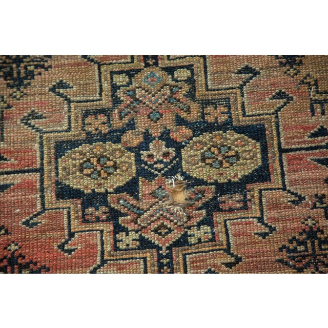 """Antique Tattered Malayer Square Rug - 3'5"""" x 4'3"""" - Image 10 of 10"""