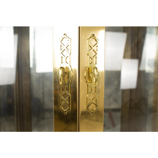 Metal Mastercraft Mid Century Brass Display Cabinet - Set of 3 For Sale - Image 7 of 13