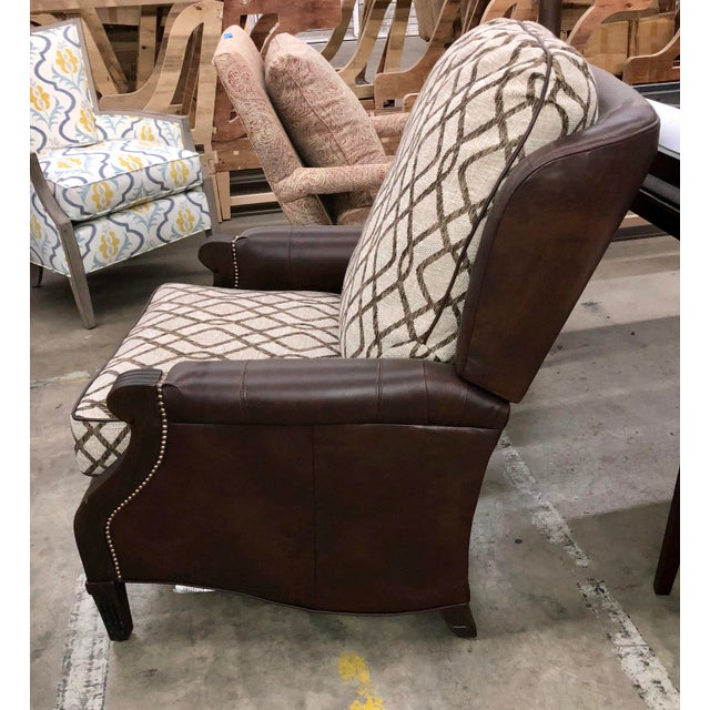 Contemporary Contemporary Reclining Leather Chair For Sale - Image 3 of 10
