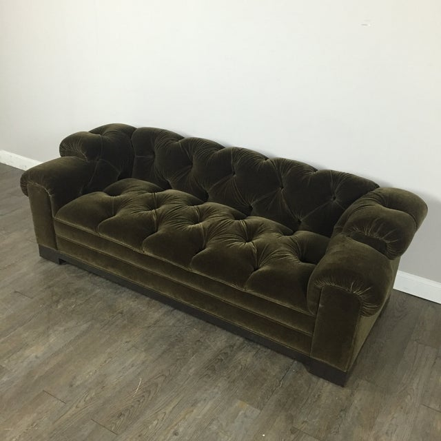 Tufted Green Mohair Sofa - Image 3 of 11