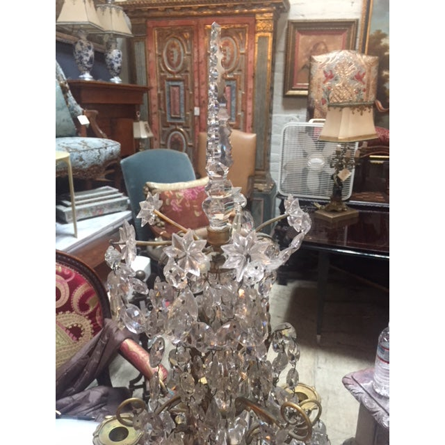 Early 19th Century French Dore Bronze & Crystal Girandoles - a Pair For Sale In Los Angeles - Image 6 of 12