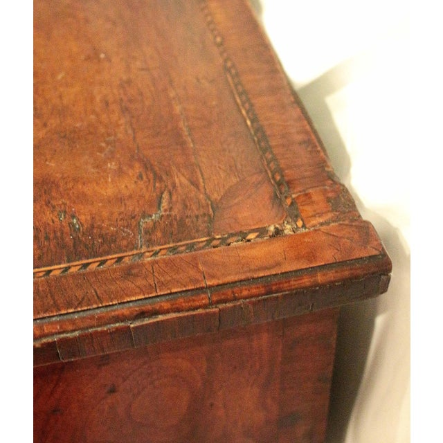 18th Century English George II Walnut Bachelor's Chest For Sale - Image 9 of 11