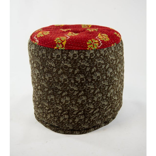 Jute & Cotton Kelly Pouf For Sale - Image 4 of 5