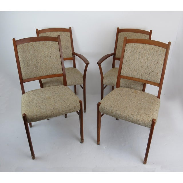 1960s Sculptural Mid-Century Modern Danish Teak Dining Chairs - Set of 4 For Sale - Image 13 of 13