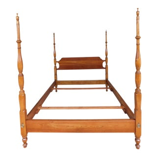 L & J G Stickley Cherry Valley Chippendale Style Full Size Poster Bed For Sale