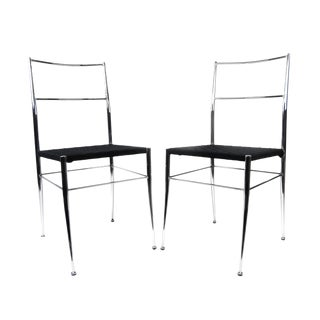 Pair of Gio Ponti Superleggera Style Chairs For Sale
