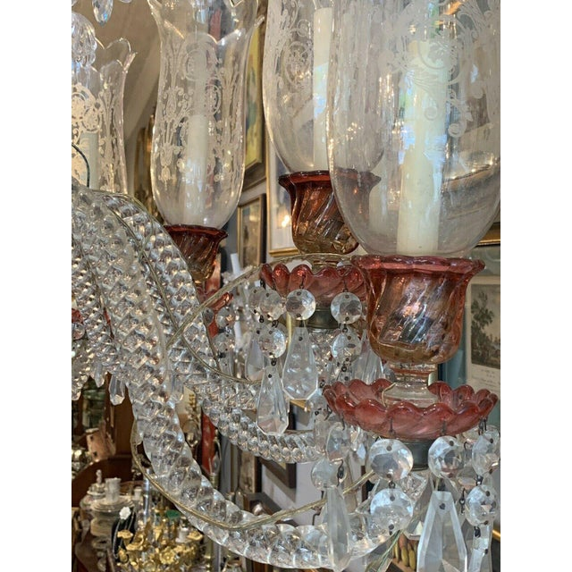 Late 19th Century Late 19th Century Antique Original Signed French Baccarat 12 Light Cranberry Red Crystal Chandelier For Sale - Image 5 of 9