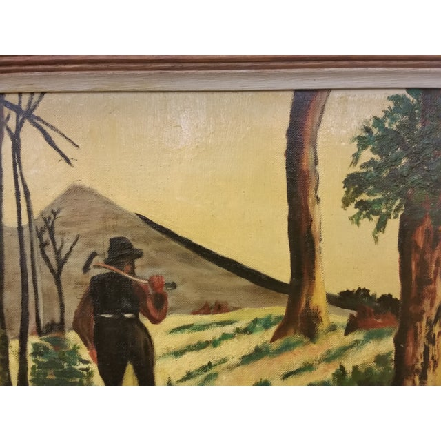 Country Viola Roston Signed Oil Painting, 1957 For Sale - Image 3 of 6