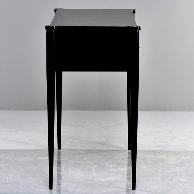 Bespoke Ebonised Console With Vellum Drawers For Sale - Image 12 of 13
