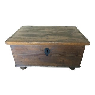 Swedish Rustic Trunk With Flat Top For Sale