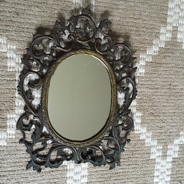 Silvestri Brass Table Mirror - Image 2 of 10