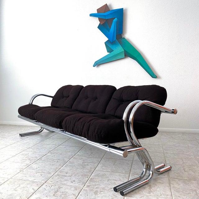 Jerry Johnson Mid Century Modern Jerry Johnson Chrome Sofa For Sale - Image 4 of 12