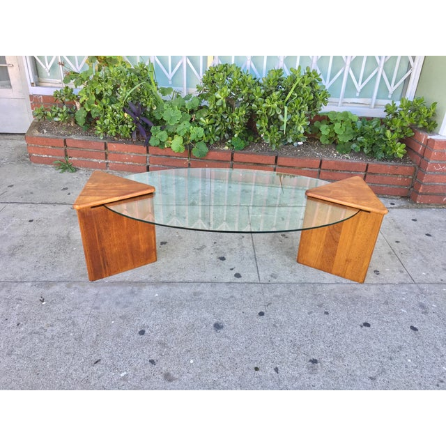 Oval Glass Top Coffee Table - Image 3 of 7