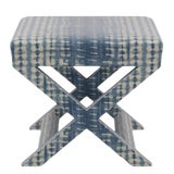 Image of X Bench in Shibori For Sale