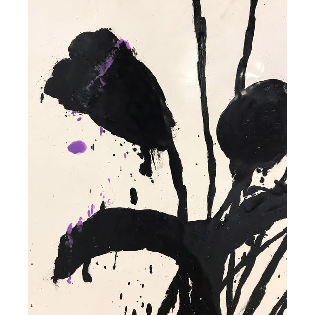 """Abstract Pair of Abstract Paintings, """"Botanical, 221"""" by John O'Hara - 37""""x37"""" Each Board For Sale - Image 3 of 6"""