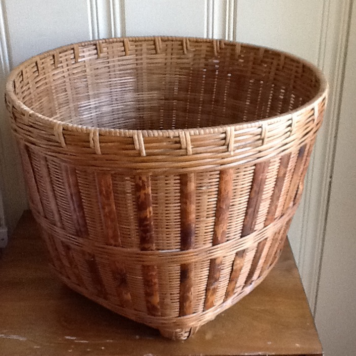 Large Wood Bamboo Storage Basket   Image 7 Of 9