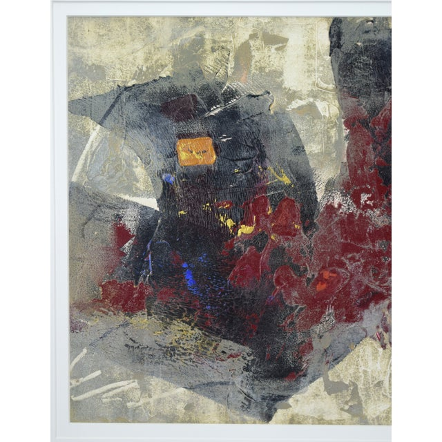 1980s Modernist Abstract Forms Oil Painting #2 by Canadian Artist Patrice Beckerich For Sale - Image 5 of 9