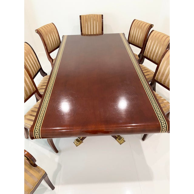 Custom Furniture Builders Versace Style Dining Set-Set of 9 For Sale - Image 11 of 13