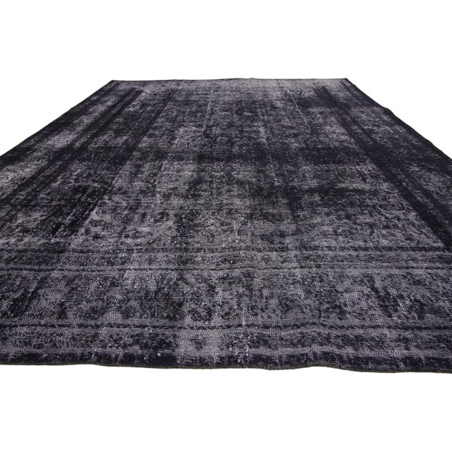 Contemporary Vintage Turkish Rug With Industrial Luxe Style - 09'05 X 12'04 For Sale - Image 3 of 7