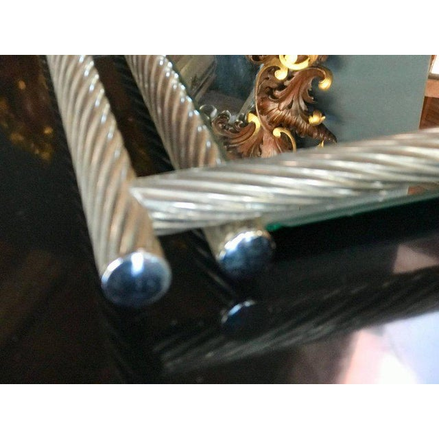 Mid-Century Modern Italian Rectangular Tray with Spiral Silver Frame, 1960s For Sale - Image 3 of 8