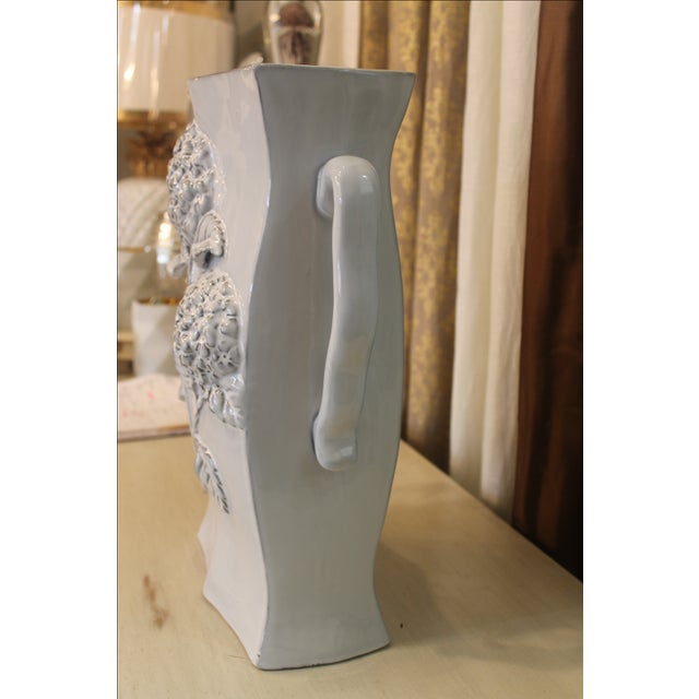Pair of Tall ( Two) Ceramic Vases For Sale In New Orleans - Image 6 of 8