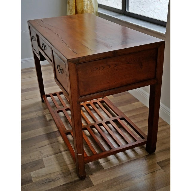 Antique Asian Writing Desk For Sale - Image 4 of 11